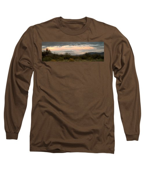 Evening In Tucson Long Sleeve T-Shirt by Kume Bryant