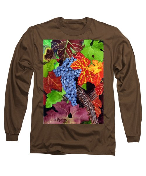 Fall Cabernet Sauvignon Grapes Long Sleeve T-Shirt by Mike Robles