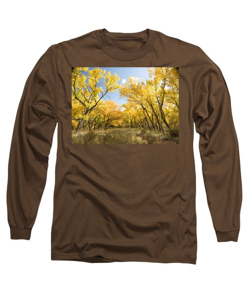 Fall Leaves In New Mexico Long Sleeve T-Shirt