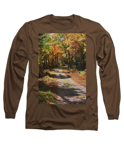 Long Sleeve T-Shirt featuring the photograph Fall On The Wyrick Trail by Denise Romano