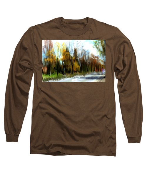 Long Sleeve T-Shirt featuring the mixed media Farmington by Terence Morrissey