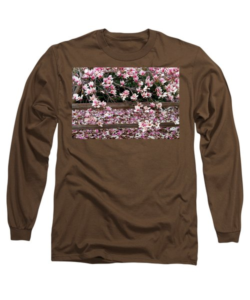 Long Sleeve T-Shirt featuring the photograph Fence Of Flowers by Elizabeth Winter