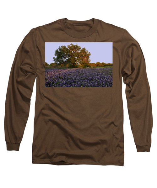 Field Of Blue Long Sleeve T-Shirt by Susan Rovira