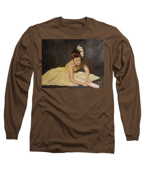 Long Sleeve T-Shirt featuring the painting Final Preparations by Julie Brugh Riffey