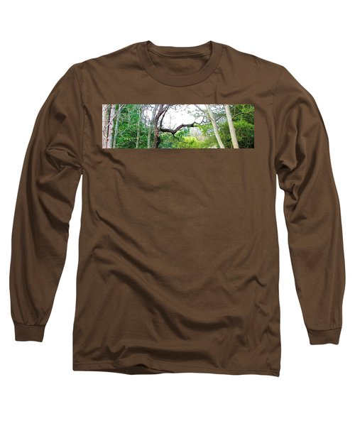 Long Sleeve T-Shirt featuring the photograph Flying Branch by Pamela Hyde Wilson