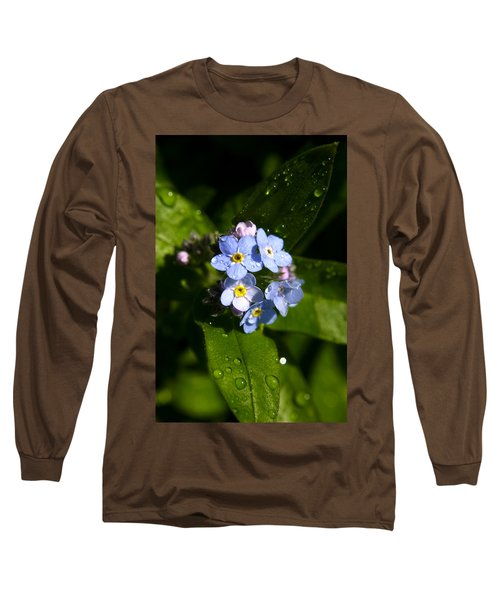 Forget Me Not Long Sleeve T-Shirt by Ralph A  Ledergerber-Photography