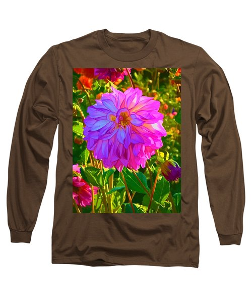 Long Sleeve T-Shirt featuring the photograph Fuchsia Delight by Ken Stanback