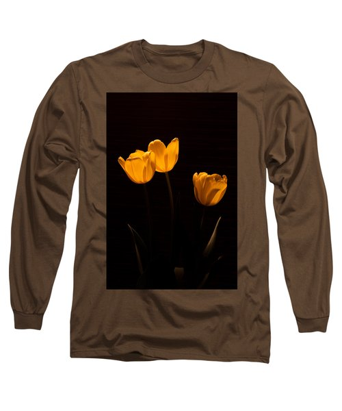 Long Sleeve T-Shirt featuring the photograph Glowing Tulips by Ed Gleichman