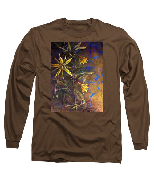 Gold Passions Long Sleeve T-Shirt by Ashley Kujan