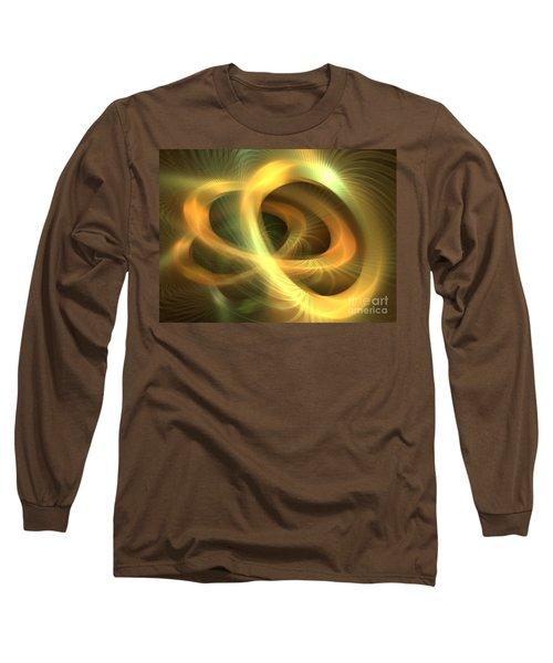 Golden Rings Long Sleeve T-Shirt by Kim Sy Ok