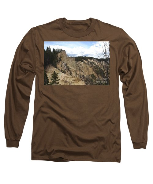 Grand Canyon Cliff In Yellowstone Long Sleeve T-Shirt by Living Color Photography Lorraine Lynch