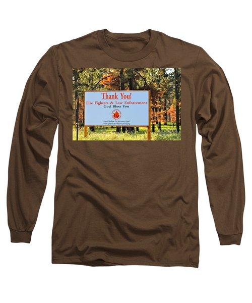 Gratitude Long Sleeve T-Shirt by Pamela Walrath