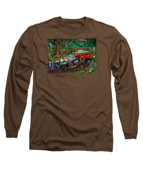 Graveyard Ghost Tours Long Sleeve T-Shirt by Glenn Holbrook