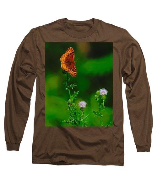 Great Spangled Fritillary Long Sleeve T-Shirt