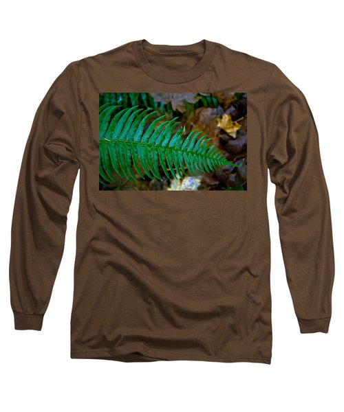 Long Sleeve T-Shirt featuring the photograph Green Fern by Tikvah's Hope