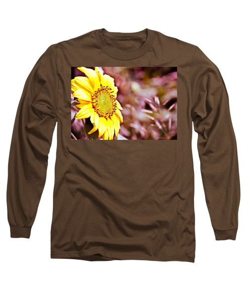 Long Sleeve T-Shirt featuring the photograph Greeting The Sun. by Cheryl Baxter
