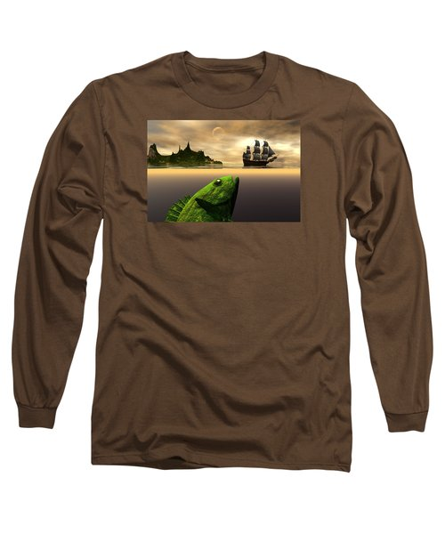 Long Sleeve T-Shirt featuring the digital art Gustatory Anticipation by Claude McCoy