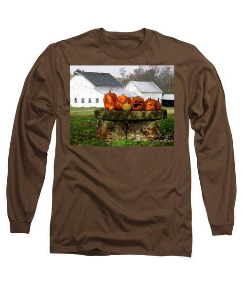 Long Sleeve T-Shirt featuring the photograph Halloween Scene by Lainie Wrightson