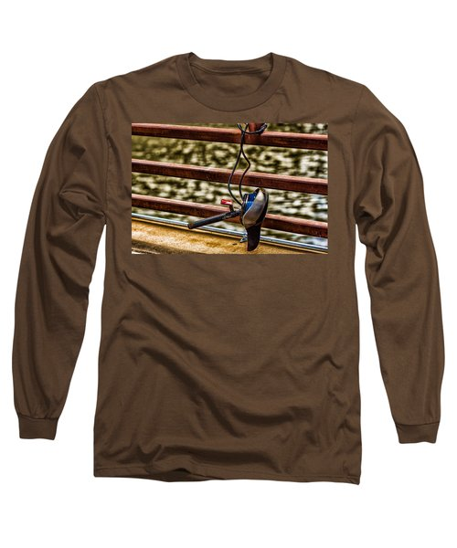 Long Sleeve T-Shirt featuring the photograph How Not To Lock Your Bike by Tom Gort