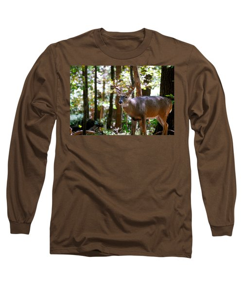 Long Sleeve T-Shirt featuring the photograph Hunters Dream 10 Point Buck by Peggy Franz