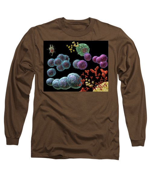 Long Sleeve T-Shirt featuring the digital art Immune Response Antibody 2 by Russell Kightley