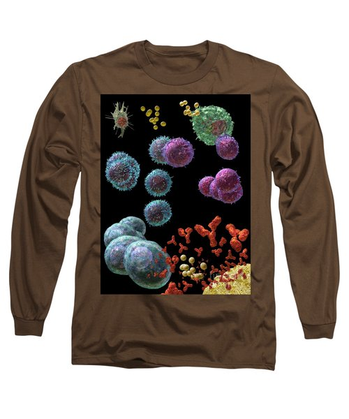 Long Sleeve T-Shirt featuring the digital art Immune Response Antibody 5 by Russell Kightley