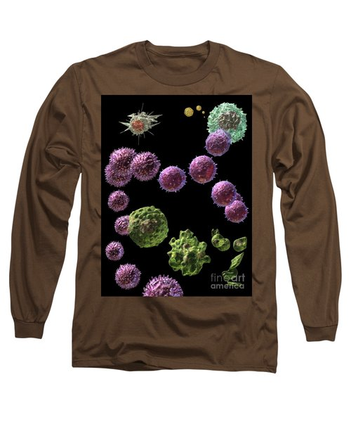 Long Sleeve T-Shirt featuring the digital art Immune Response Cytotoxic 2 by Russell Kightley