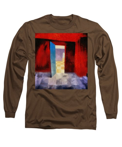 Interior With Red Walls Long Sleeve T-Shirt