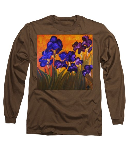 Irises In Motion Long Sleeve T-Shirt