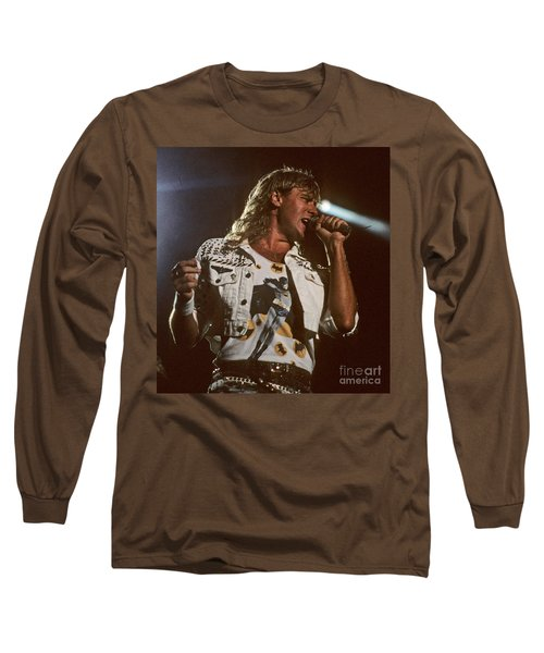 Joe Elliot Long Sleeve T-Shirt by David Plastik