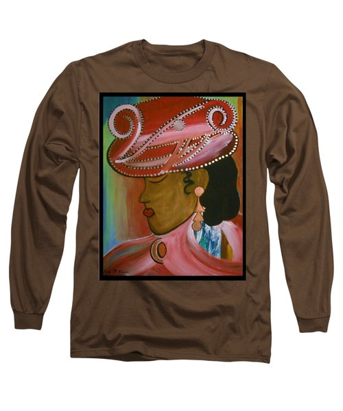 Lady In Pink Long Sleeve T-Shirt by Kelly Turner