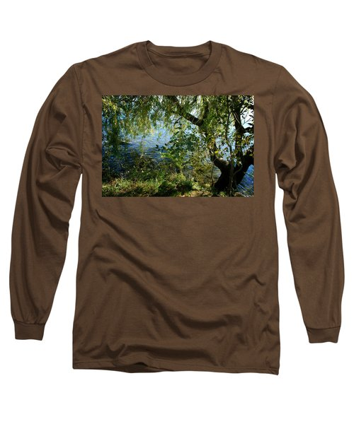 Lakeside Tree Long Sleeve T-Shirt by Kathleen Grace