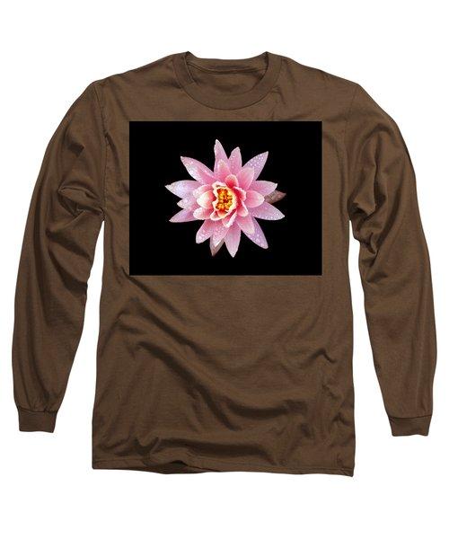 Lily On Black Long Sleeve T-Shirt