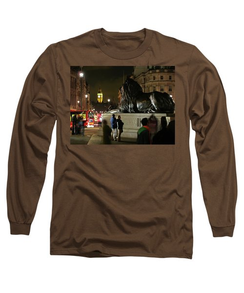 Long Sleeve T-Shirt featuring the photograph Lion An Ben by Pedro Cardona