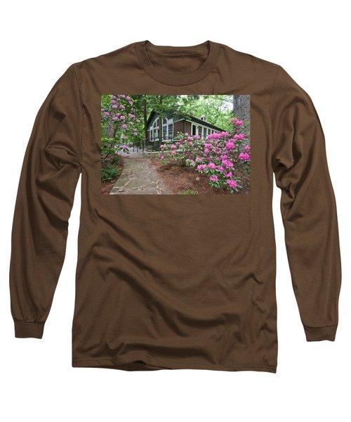 Little Brown Church In Spring Long Sleeve T-Shirt