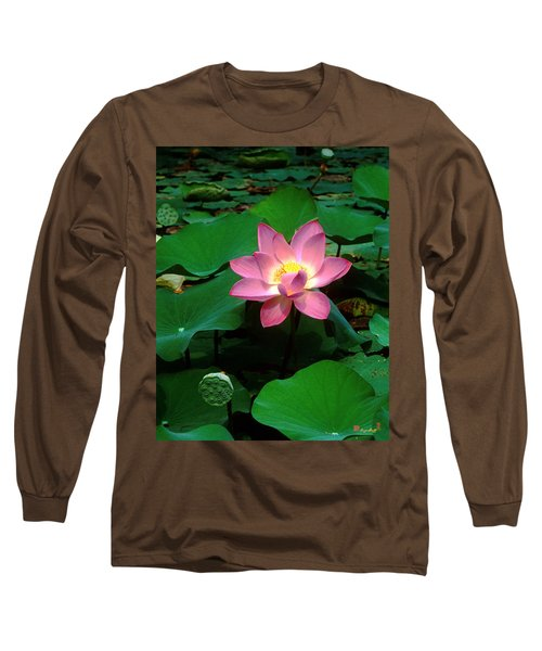 Lotus Flower And Capsule 24a Long Sleeve T-Shirt