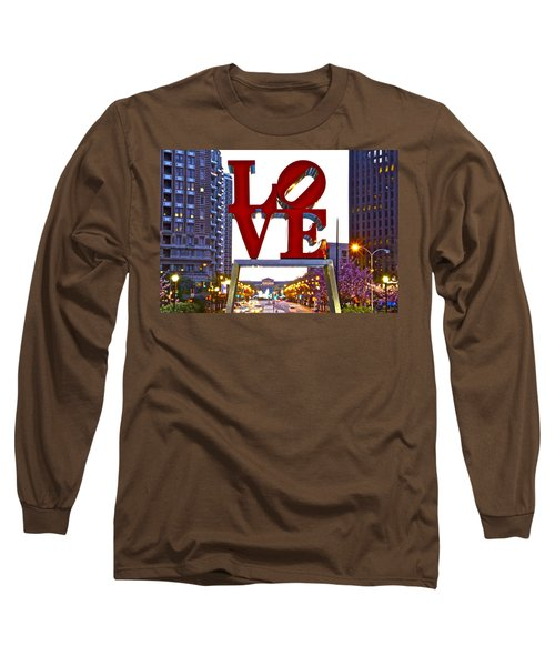 Long Sleeve T-Shirt featuring the photograph Love In Philadelphia by Alice Gipson