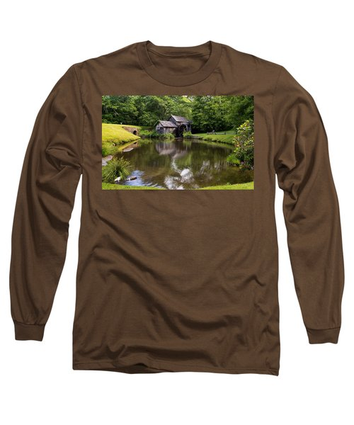 Mabry Mill And Pond Long Sleeve T-Shirt