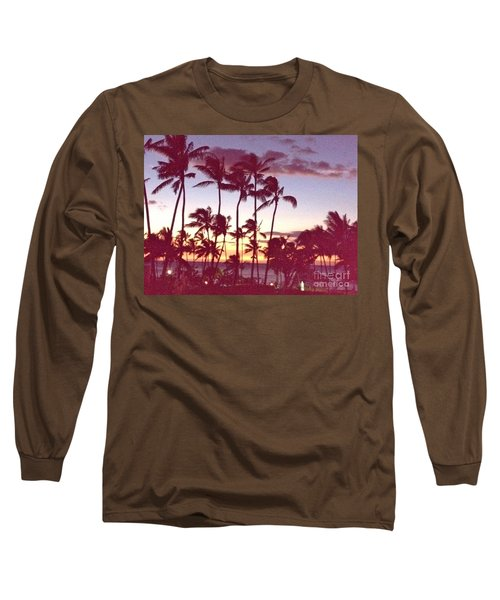 Mahalo For This Day Long Sleeve T-Shirt by Beth Saffer