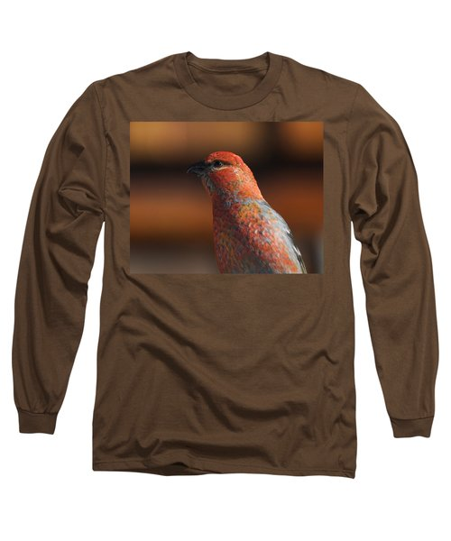 Male Pine Grosbeak Long Sleeve T-Shirt