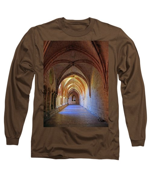 Long Sleeve T-Shirt featuring the photograph Monastery Passageway by Dave Mills