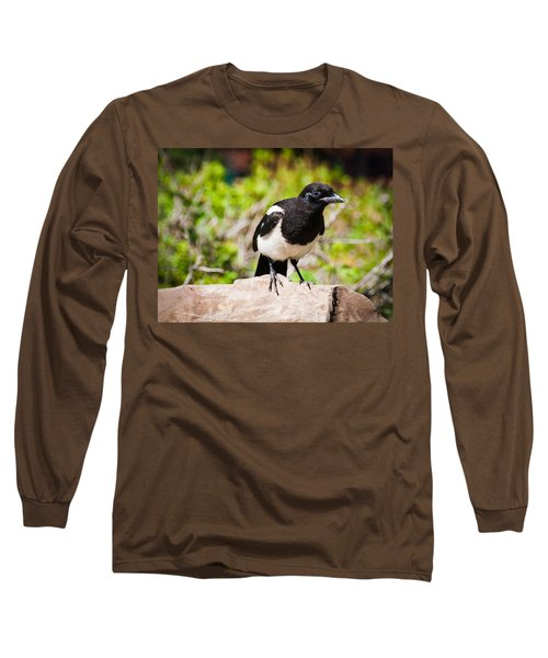 Long Sleeve T-Shirt featuring the photograph Mr. Magpie by Cheryl Baxter
