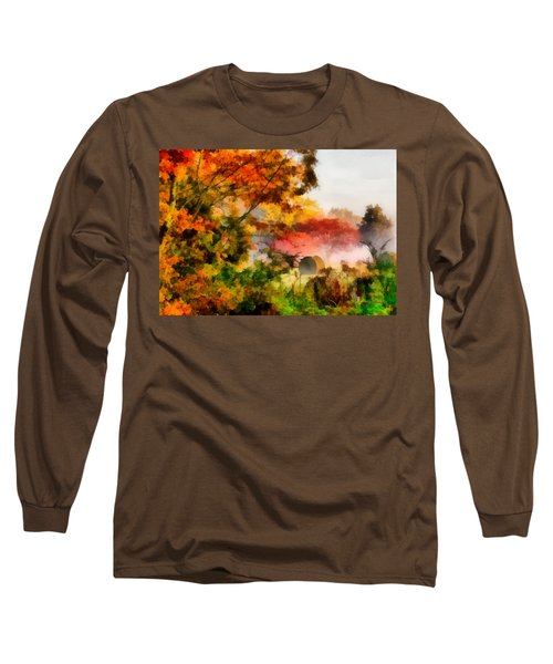 Long Sleeve T-Shirt featuring the painting My Front Yard by Lynne Jenkins
