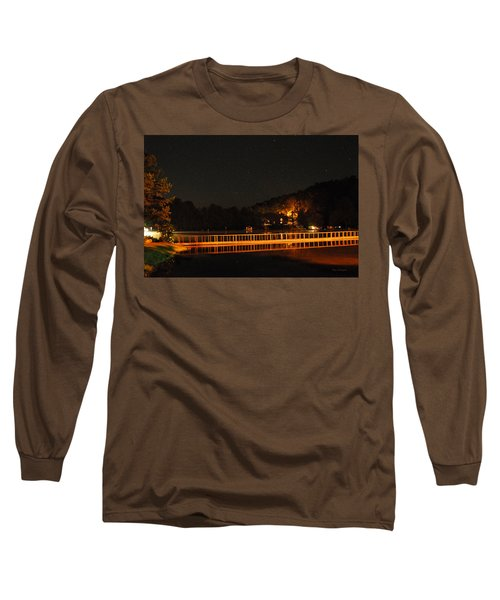 Night Bridge Long Sleeve T-Shirt by Kay Lovingood