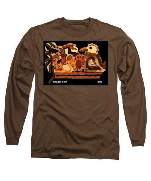 Oiseaux D'eau En Hiver Long Sleeve T-Shirt