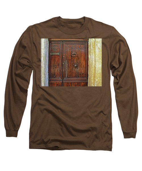 Long Sleeve T-Shirt featuring the photograph Old Door Study Provence France by Dave Mills