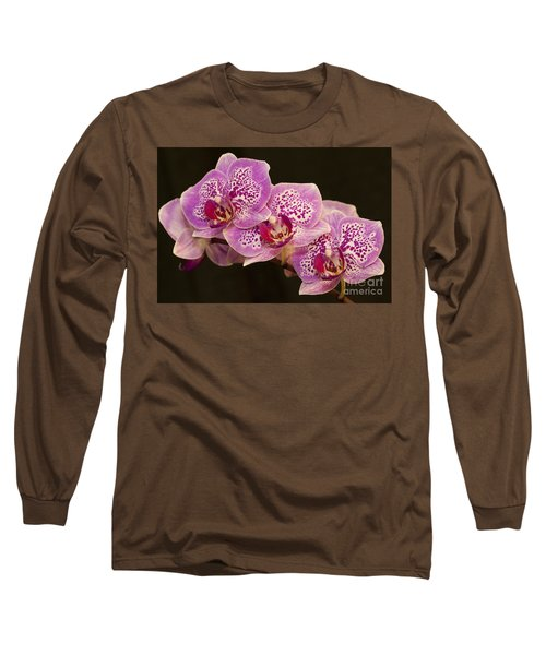 Orchids Long Sleeve T-Shirt by Eunice Gibb