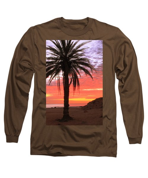 Palm Tree And Dawn Sky Long Sleeve T-Shirt
