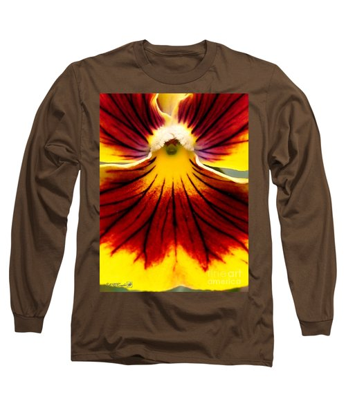 Pansy Named Imperial Gold Princess Long Sleeve T-Shirt by J McCombie