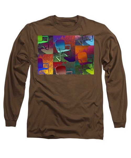 Long Sleeve T-Shirt featuring the photograph Patio Chair by David Pantuso